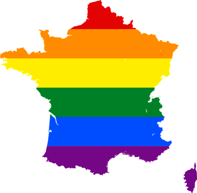 Rainbow Stripes, France, Symbol, Lgbt, Glbt, Pride