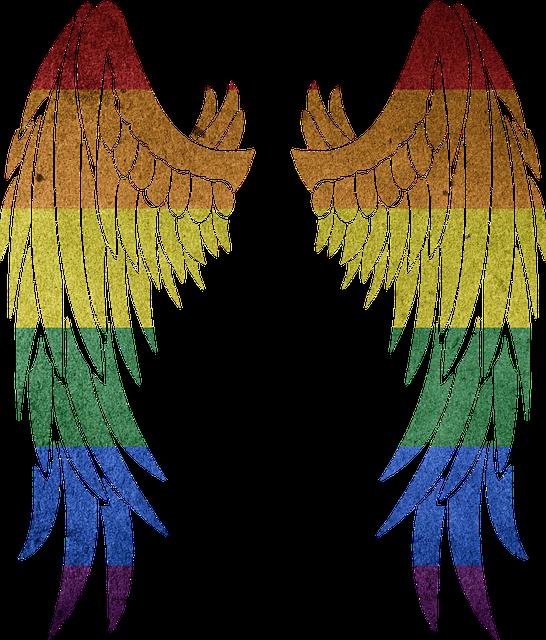 Rainbow, Symbol, Colorful, Gay, Wing, Angel