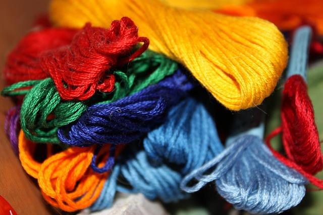 Floss, Thread, Rainbow, Colored Thread, Threads-macro