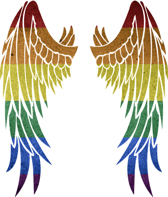 Rainbow, Symbol, Colorful, Gay, Wing, Angel