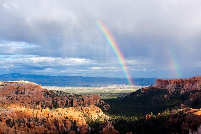 Bryce Canyon, Utah, Rainbows, Double Rainbow, Bryce