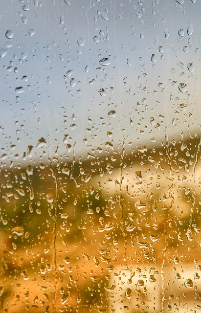 Raindrop, Window, Glass, Rainy Weather, Greece, Liquid