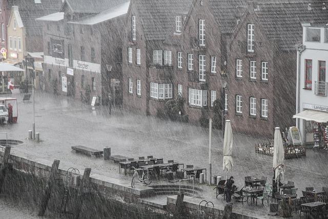 Rain, Rainy Weather, Bad Weather, Port, Wet, Street