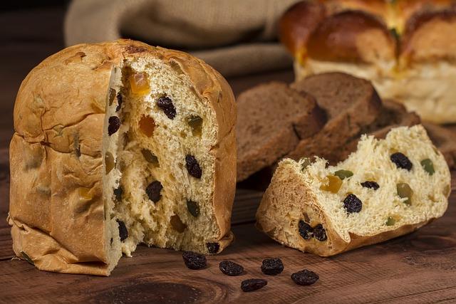 Tasty, Panettone, Bread, Raisins, Food