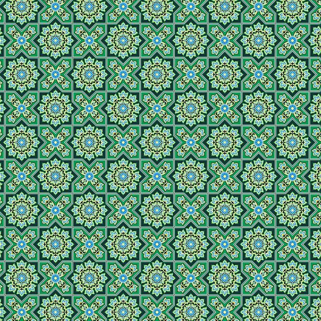 Ramadan Background, Islamic Pattern, Green, Ramadan
