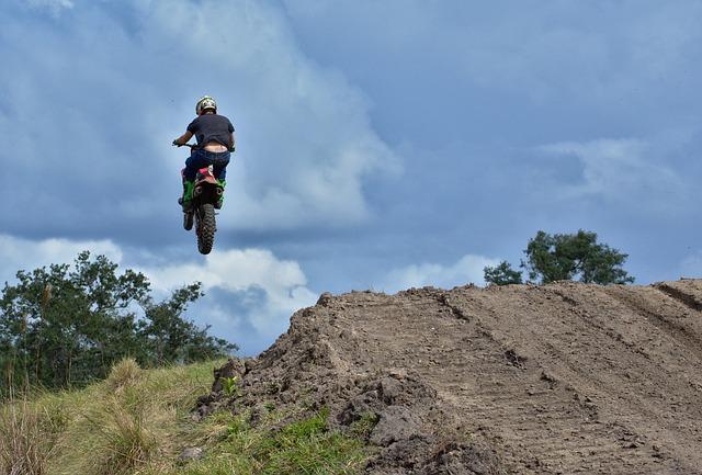Sky, Motocross, Ramp, Outdoors, Adventure, Nature