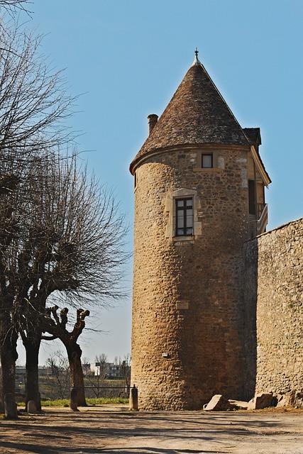 Avallon, Yonne, Burgundy, Tower, Rampart