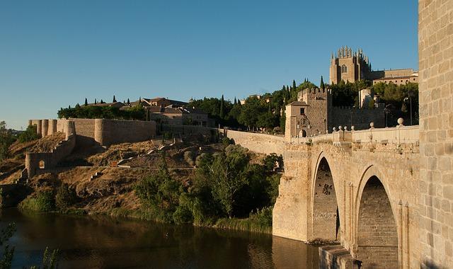 Spain, Toledo, Bridge, Ramparts