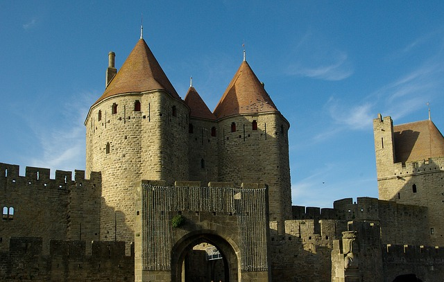 Carcassonne, France, Medieval City, Ramparts, Tours
