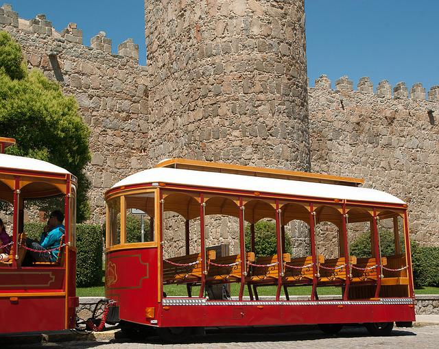 Avila, Ramparts, Train, Wagon, Tourists, Tours
