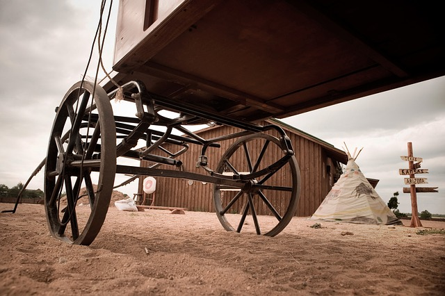 Cowboy, Cart, Ranch, Injun, Figvam