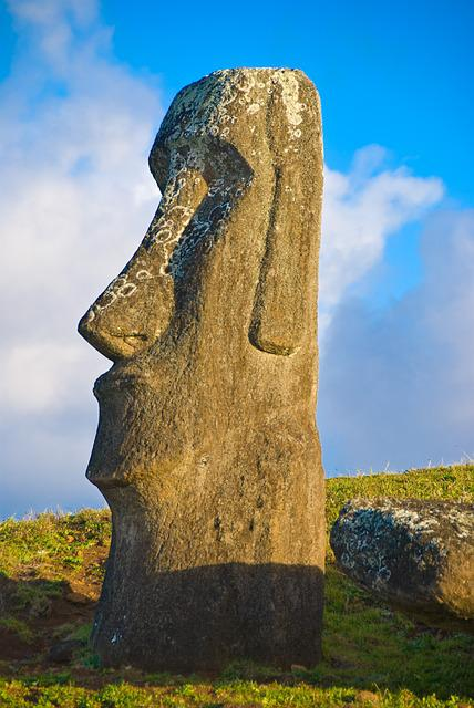 Chile, Easter Island, Rapa Nui, Sculpture, Mohais