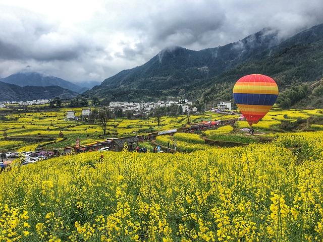 Wuyuan, Rape, Hot Air Balloon