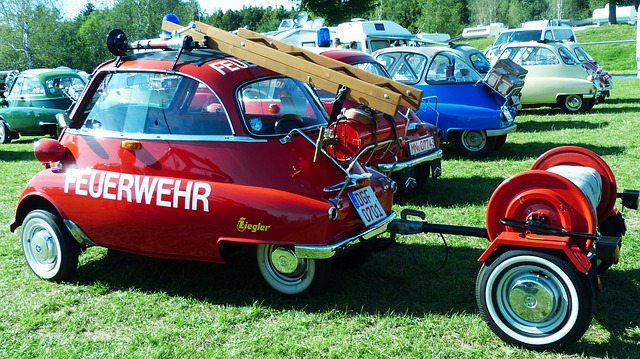 Bmw, Isetta, Fire, Snogging Ball, Oldtimer, Rarity, Old