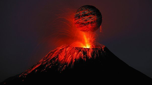 Volcano, Lava, Rash, Science Fiction, Roche, Volcanism