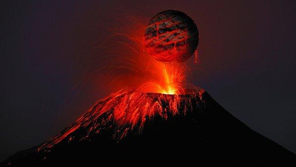 Volcano, Lava, Rash, Science Fiction, Roche, Volcanism