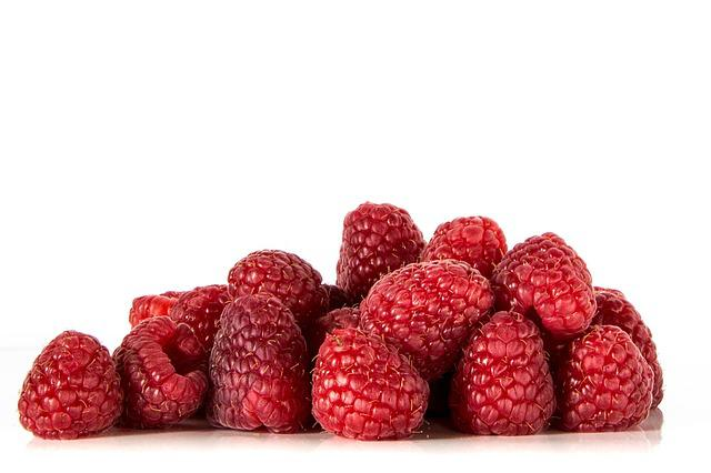 Raspberries, Fruits, Red, Food, Vitamins, Ripe