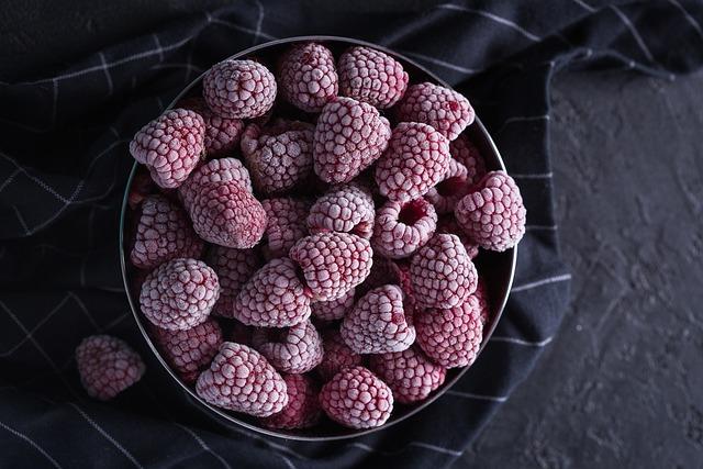 Raspberry, Berry, Frozen Berries