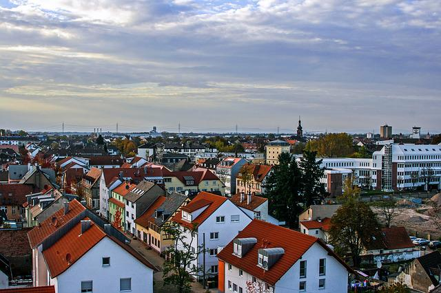 Rastatt, Hdr, City, Over The Rooftops, Road, Building