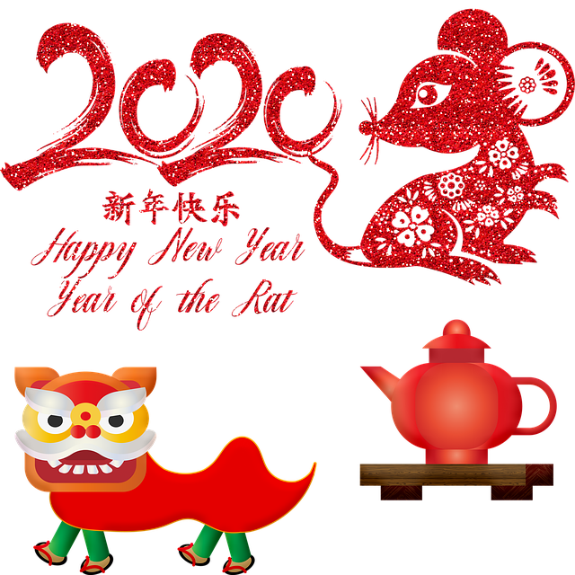 Chinese New Year, Year Of The Rat, Rat, Lion, Tea Pot