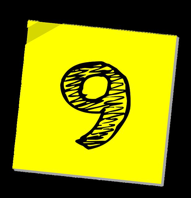 Nine, 9, Number, Ranking, Rating, Business, Symbol
