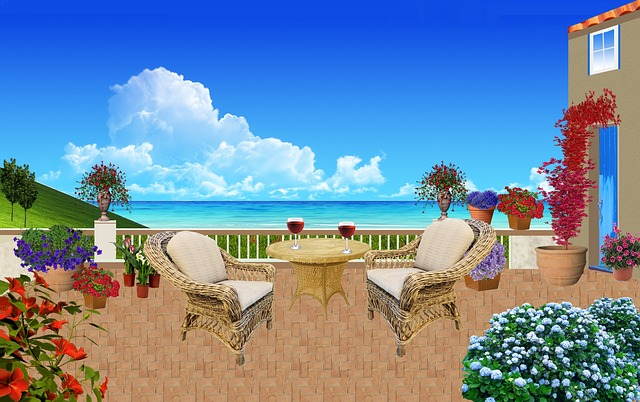 Seaside, Patio, Rattan Furniture, Armchairs
