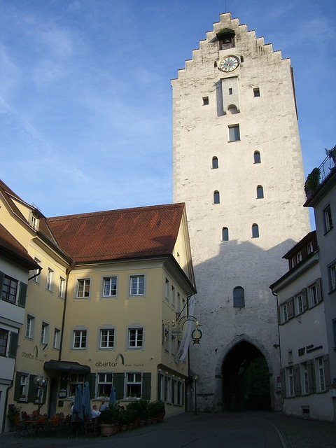 Ravensburg, Upper Gate, Downtown, Germany