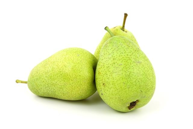Food, Fresh, Fruit, Green, Isolated, Organic, Pear, Raw