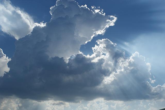 Sun, Clouds, Sky, Cloudy, Rays
