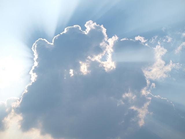 Cloud, Sun, Gods Finger, Sky, Rays, Romantic, Mood