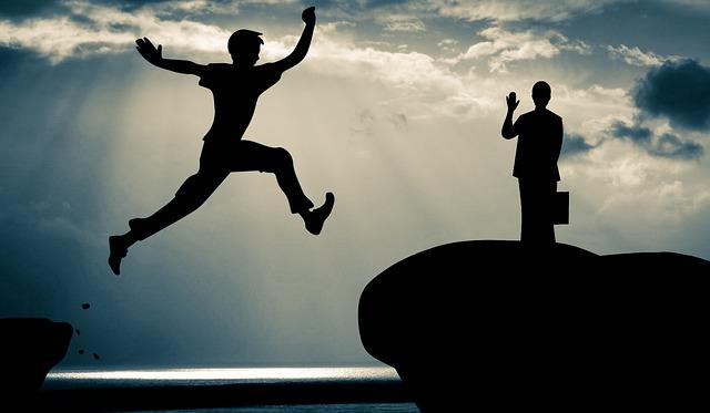 Love, Jumping, Woman, Man, Leaving, Reaching, Dramatic