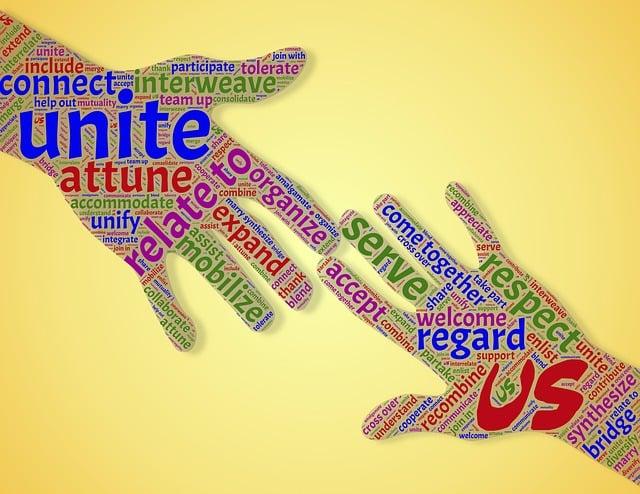 Unity, Community, Union, Hands, Reaching Out, Assist