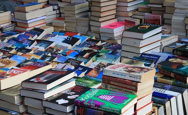Flea Market, Books, Box, Browse, Read, Title