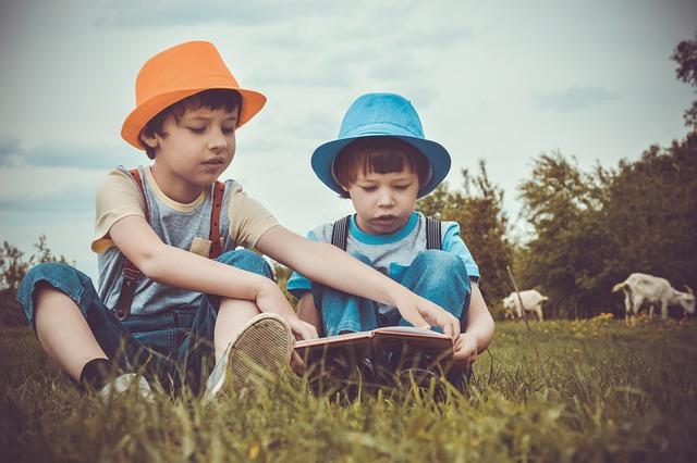 Meadow, Summer, Kids, Read, Book