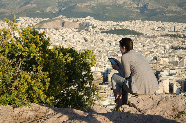 Greece, Athens, Areopagus Hill, Reader, City, Landscape