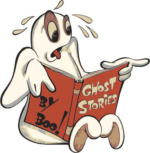 Boo, Cartoon, Ghost, Halloween, Phantom, Reading