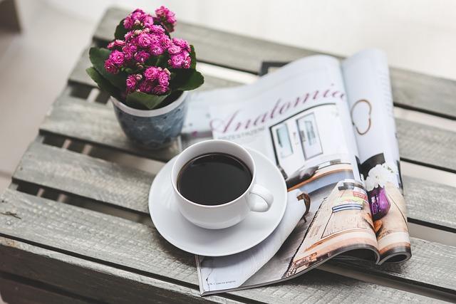 Coffee, Magazine, Newspaper, Read, Reading, Free Time