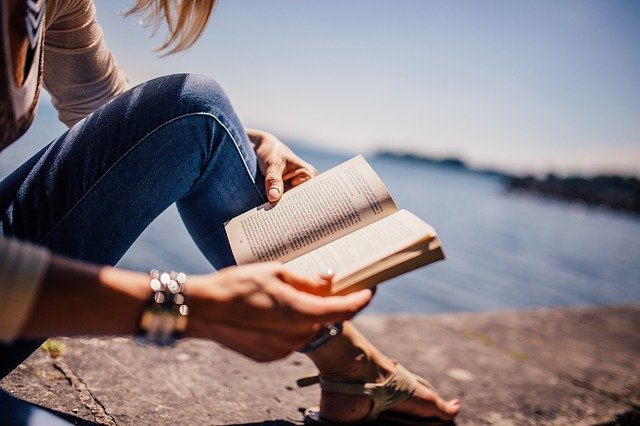 Reading, Book, Girl, Woman, People, Sunshine, Summer