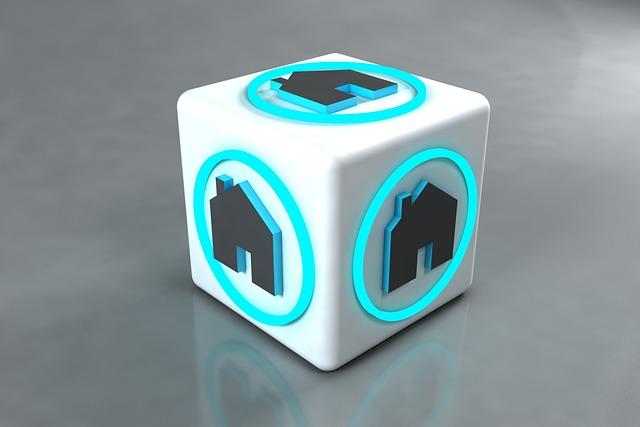 Real Estate, Symbol, Cube, 3d Modeling