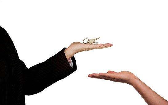 Real Estate, Agent, Sale, Home, Keys, Hand, Handing