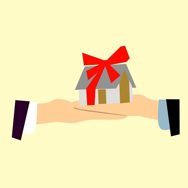 Estate, Giving, Hands, House, Real, Idea, Bow