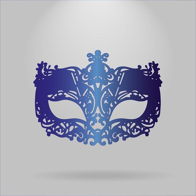 Carnival Mask, Mask, Masquerade, Blue, Realistic