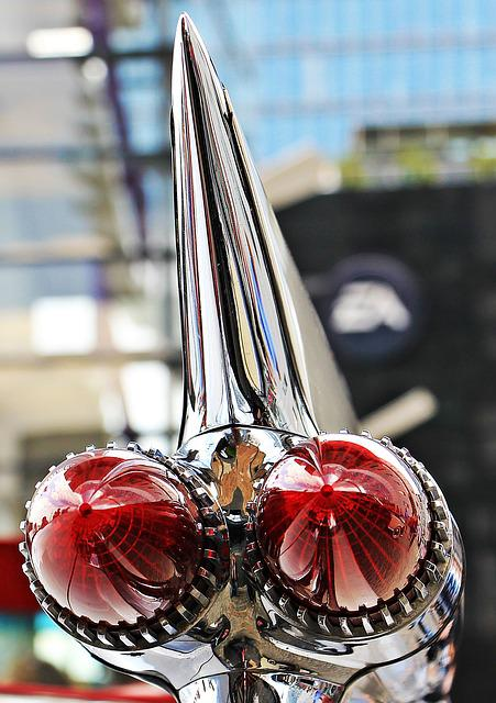 Tailfin, Cadillac, Rear Lights, Oldtimer, Vehicle, Usa