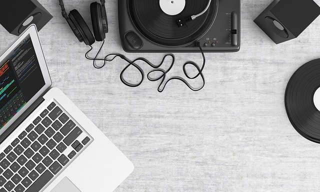 Turntable, Top View, Audio, Equipment, Music, Record