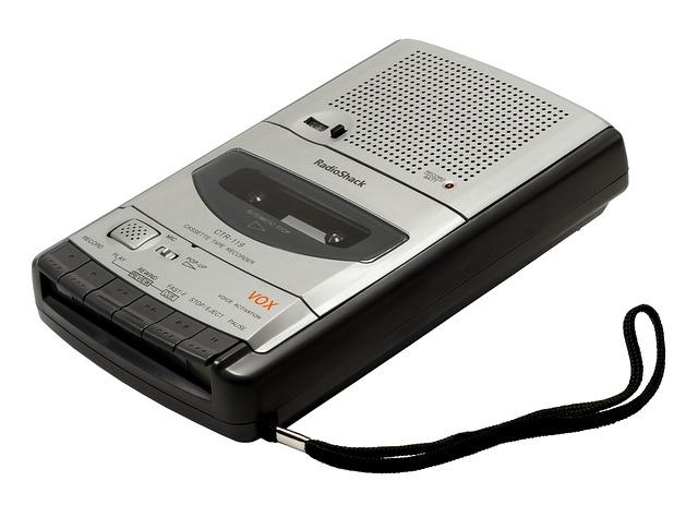 Recorder, Cassette, Built-in Microphone, Radioshack