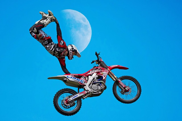 Bike, Wheel, Hurry, Motorbike, Recreation, Sky, Moon