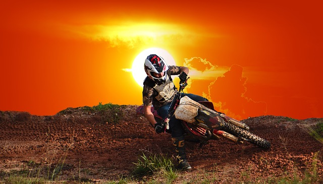 Sunset, Motocross, Outdoors, Recreational Sport