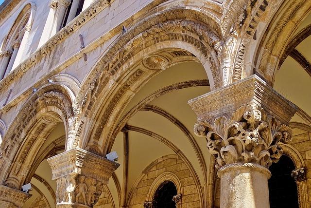 Rectors Palace, Croatia, Dubrovnik, Columnar, Tirbögen