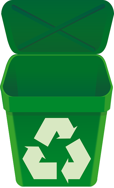 Recycle, Bin, Green, Can, Open, Lid, Recycling