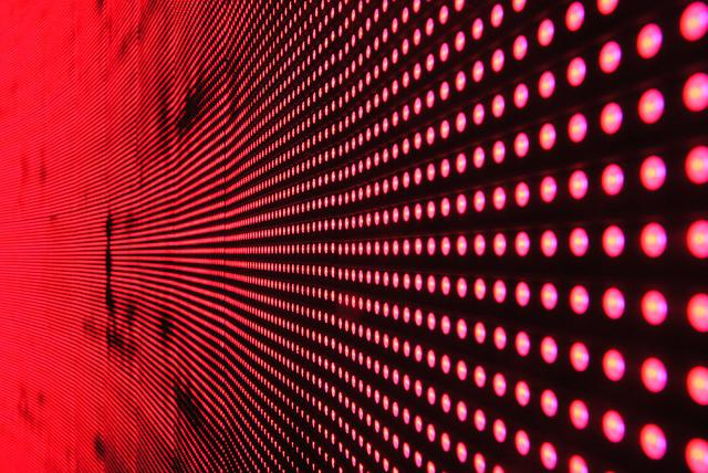 Structure, Light, Led, Movement, Color, Red, Abstract